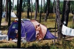Det var en telt-tur i 1998 - her i en nationalpark