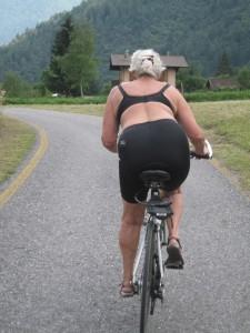 AM på cykel