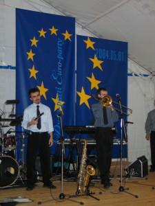 EU Flag og musik reduceret