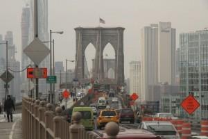 trafik på brooklyn broen