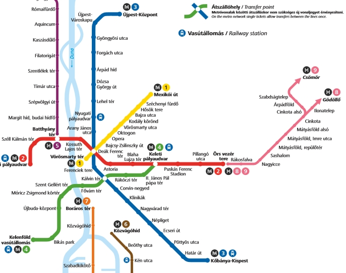 Budapest-metro-map